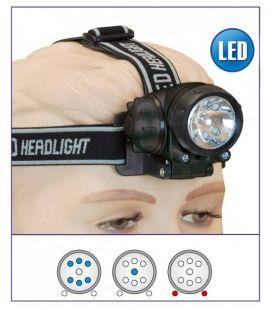 Linterna frontal multifunción 6+2