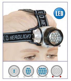 Linterna frontal multifunción 18+2