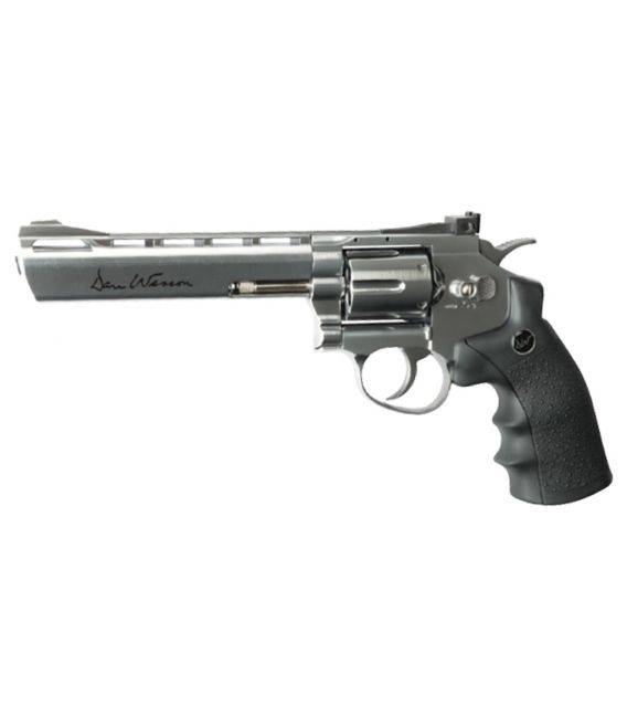 "Revólveres Dan Wesson 6"" Plata BB's"