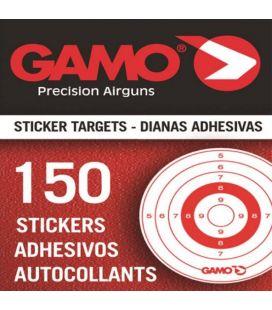 Caja 150 dianas adhesivas Gamo