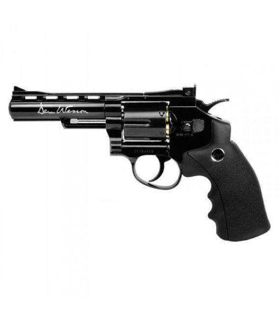 "Revólver Dan Wesson 4"" negro BB's"