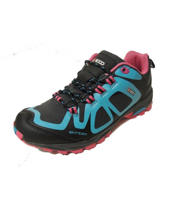 Zapato montaña mujer +8000 turquesa tamat